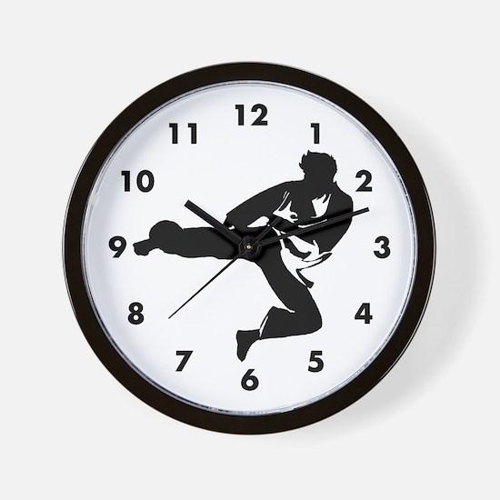 Martial Artist Wall Clock