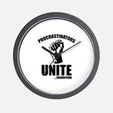 Procrastinators Unite ... Tomorrow Wall Clock