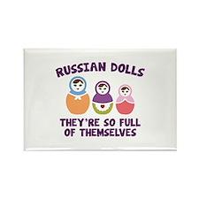 Russian Dolls Rectangle Magnet