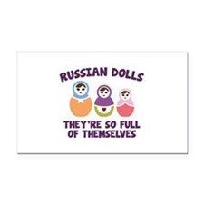 Russian Dolls Rectangle Car Magnet