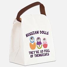 Russian Dolls Canvas Lunch Bag