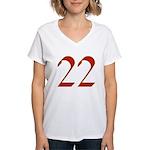 Mink 22 Women's V-Neck T-Shirt