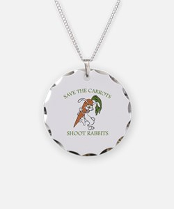 Save The Carrots Shoot Rabbits Necklace