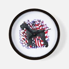 Giant Schnauzer Patriot Wall Clock
