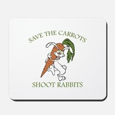 Save The Carrots Shoot Rabbits Mousepad
