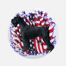 Giant Schnauzer Patriot Ornament (Round)