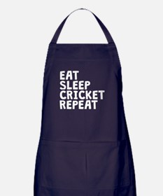 Eat Sleep Cricket Repeat Apron (dark)