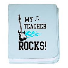 My Teacher Rocks Guitar/Music baby blanket