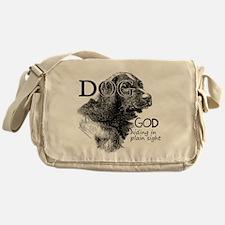 Vintage Dog God Messenger Bag
