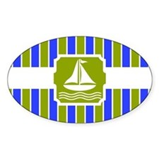 Nautical Sailboat Stripes Decal