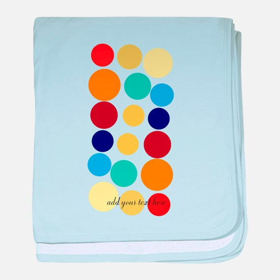 Bright Polka Dots baby blanket