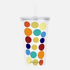 Bright Polka Dots Acrylic Double-wall Tumbler