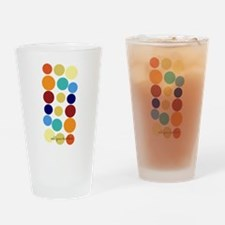 Bright Polka Dots Drinking Glass