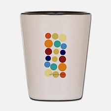Bright Polka Dots Shot Glass