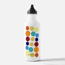 Bright Polka Dots Sports Water Bottle