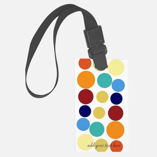 Bright Polka Dots Luggage Tag
