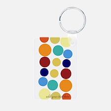 Bright Polka Dots Keychains