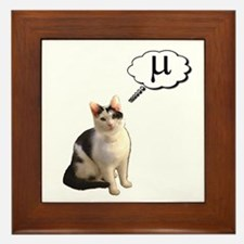 Mu Kitty Framed Tile
