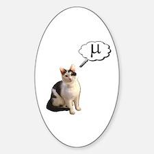 Mu Kitty Oval Decal