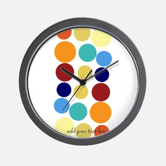 Bright Polka Dots Wall Clock