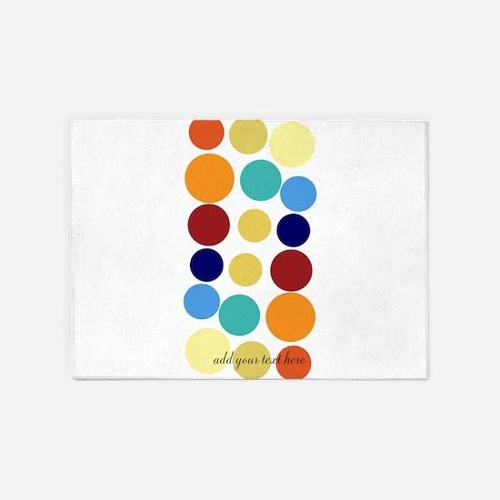 Bright Polka Dots 5'x7'Area Rug