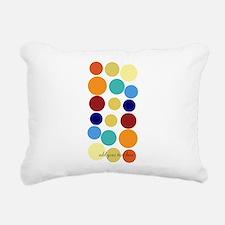 Bright Polka Dots Rectangular Canvas Pillow