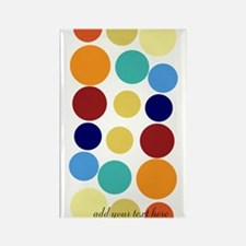 Bright Polka Dots Rectangle Magnet Magnets