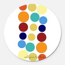 Bright Polka Dots Round Car Magnet