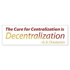 Decentralization Bumper Sticker