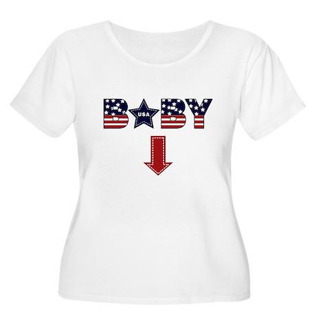 4th of July baby arrow Women's Plus Size Scoop Nec