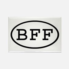 BFF Oval Rectangle Magnet