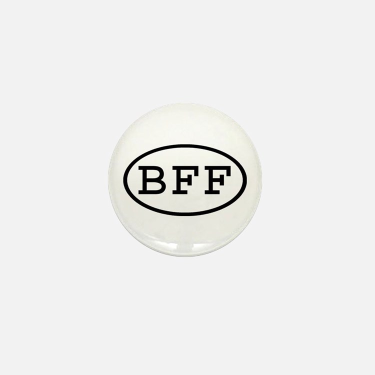 BFF Oval Mini Button