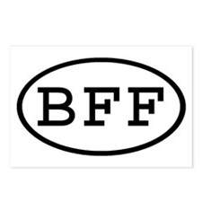 BFF Oval Postcards (Package of 8)