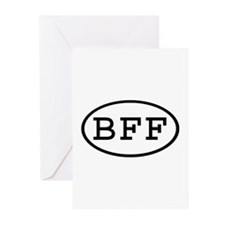 BFF Oval Greeting Cards (Pk of 10)