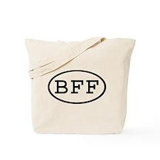 BFF Oval Tote Bag