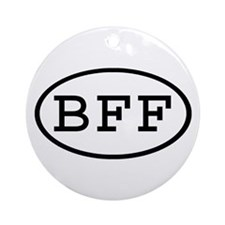 BFF Oval Ornament (Round)