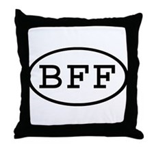 BFF Oval Throw Pillow