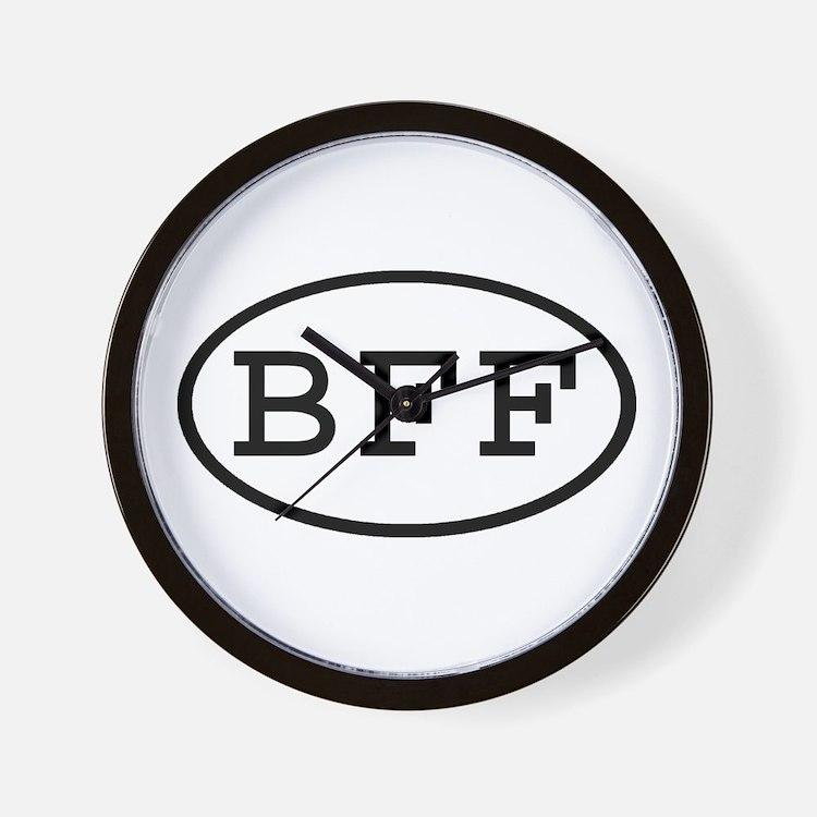 BFF Oval Wall Clock