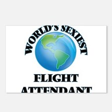World's Sexiest Flight At Postcards (Package of 8)