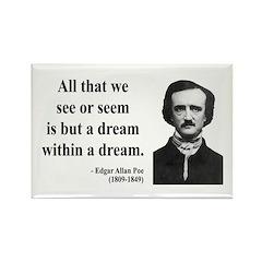 Edgar Allan Poe 1 Rectangle Magnet