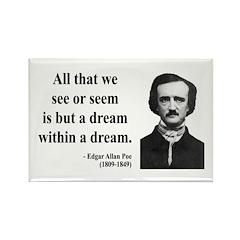 Edgar Allan Poe 1 Rectangle Magnet (10 pack)