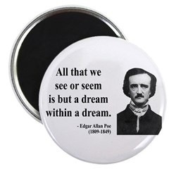 Edgar Allan Poe 1 Magnet