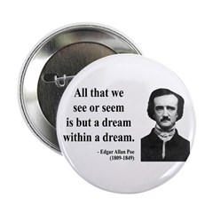 "Edgar Allan Poe 1 2.25"" Button (10 pack)"