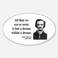 Edgar Allan Poe 1 Oval Decal