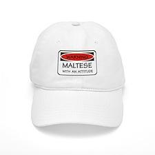 Attitude Maltese Baseball Cap