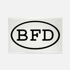 BFD Oval Rectangle Magnet