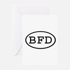 BFD Oval Greeting Cards (Pk of 10)