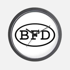 BFD Oval Wall Clock