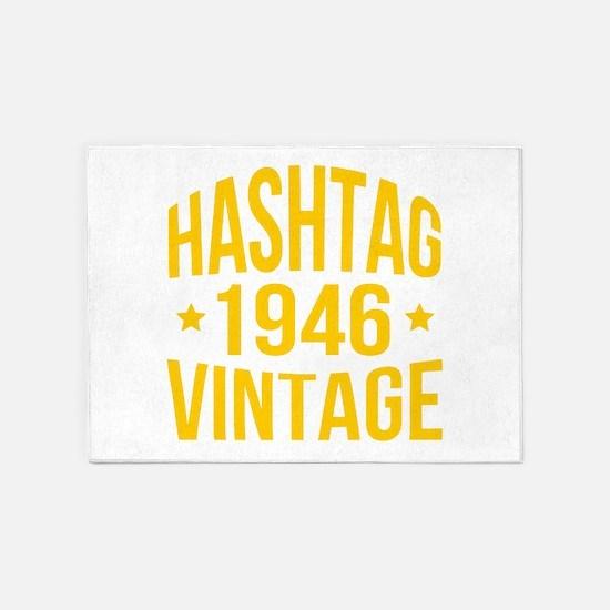 Humor Hashtag 1946 Vintage 5'x7'Area Rug