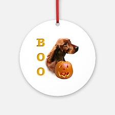 Irish Setter Boo Ornament (Round)